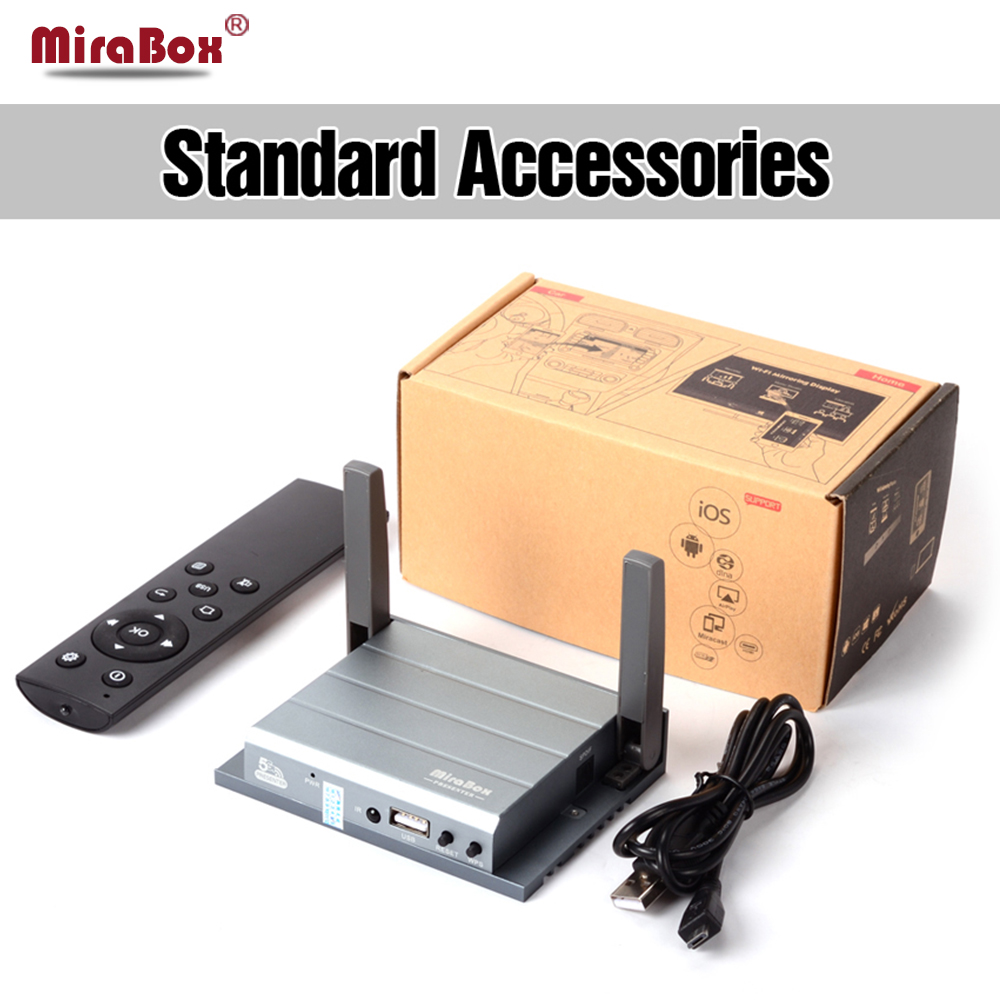 Mirabox Wireless HDMI Streaming Adapter for iOS and Android Phone support Miracast/DLNA/Airplay/Display for Education/Meeting new car wi fi mirrorlink box for ios10 iphone android miracast airplay screen mirroring dlna cvbs hdmi mirror link wifi mirabox