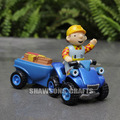 LEARNING CURVE BOB THE BUILDER FIGURE TOYS BOB WITH ATV SCRAMBLER AND TRAILER