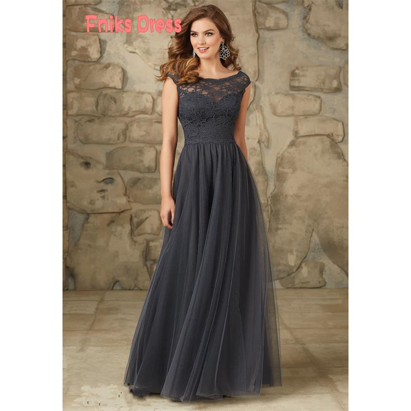Compare Prices on Grey Lace Long Bridesmaid Dress- Online Shopping ...