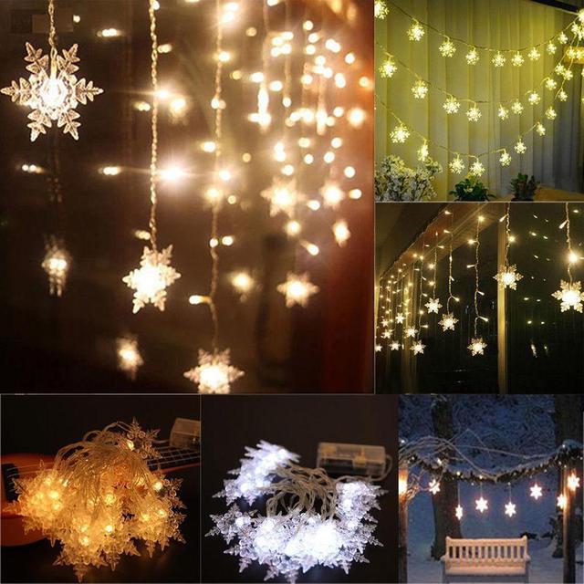 PROBE SHINY 2M 20 LED Christmas Snow Fairy String Lights Wedding Party  Garden Christmas Light Outdoor - PROBE SHINY 2M 20 LED Christmas Snow Fairy String Lights Wedding