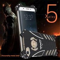For VIVO Xplay 5 6 X7 R9 R9S Plus Heavy Dust Metal BATMAN Protect Skeleton Head Phone Shell+Bracket + for MEIZU MX6 Pro6 Plus
