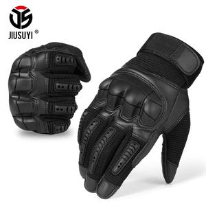 Image 4 - Touch Screen Military Tactical Rubber Hard Knuckle Full Finger Gloves Army Paintball Shooting Airsoft Bicycle PU Leather for Men