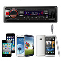 Car Radio Player Car Stereo Audio 12V Bluetooth V2.0 In-dash Aux Input Receiver FM Stereo Radio Hands-free USB/SD/MMC Electronic