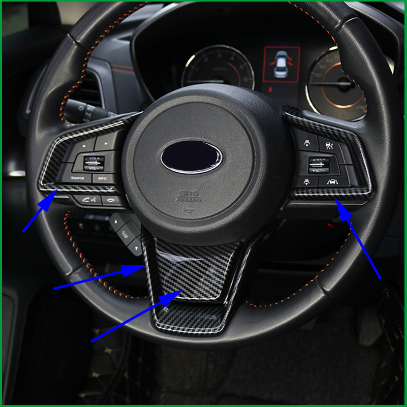 For Subaru XV 2018 2019 Outback 2018 Forester 2019 Interior Mouldings Steering Wheel Decoration Cover Sticker Trim Car Styling