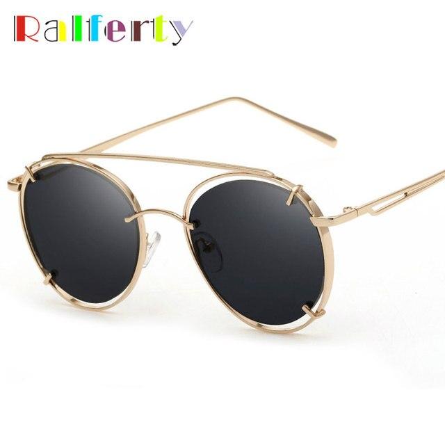 8419f843dd0 Ralferty Vintage Retro Round Sunglasses Women Men Gold Black Gothic Sun  Glasses UV400 Circle Metal Steampunk Goggles Oculos 2282