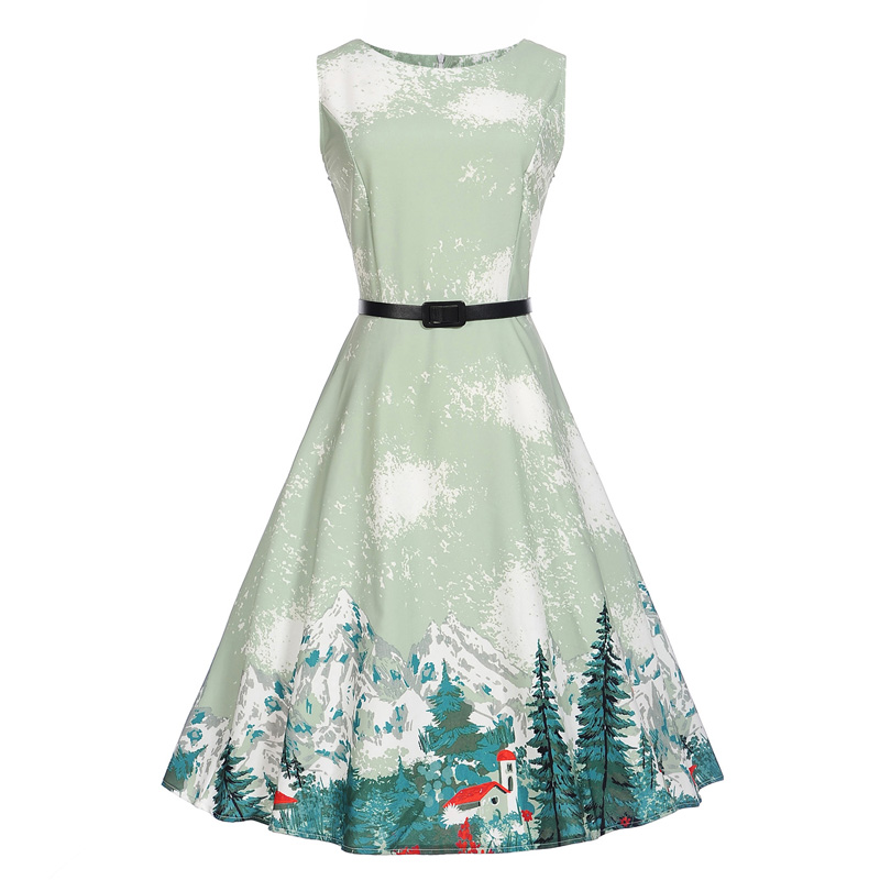 Audrey hepburn summer Girl 's dress 2017 robe floral clothing retro swing dress casual dresses 50's vintage rockabilly 5~20Y levi s vintage clothing платок