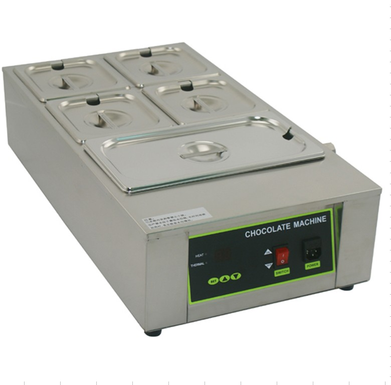 Free shipping  Commercial Use 110v 220v 5 tank  Electric Digital Chocolate Melter machine 1pcs 1000w 8kg capacity electric chocolate melter chocolate tempering machine