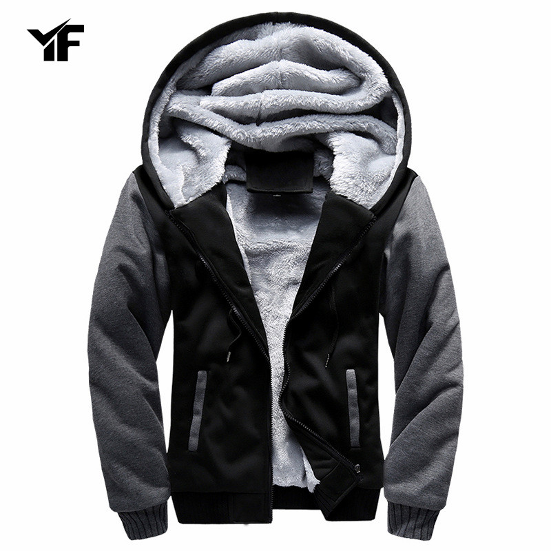 Winter Jackets Men Parkas with Glasses Padded Hooded Coat Warm Brand Clothing