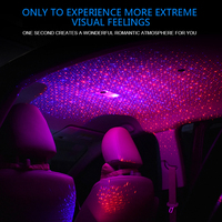 free shipping 2018 USB red blue star starry sky light projector car atmosphere lamp interior lighting car accessories LED gift