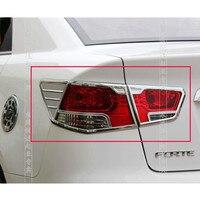 KIA Cerato/Forte 2009-2012 için araba-styling ABS krom sonrası far lambası kapağı kapakları
