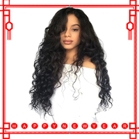130% Density Loose Wave Wig Lace Front Human Hair Wigs For Women Natural Black Full End Brazilian Lace front Wig Comingbuy Remy