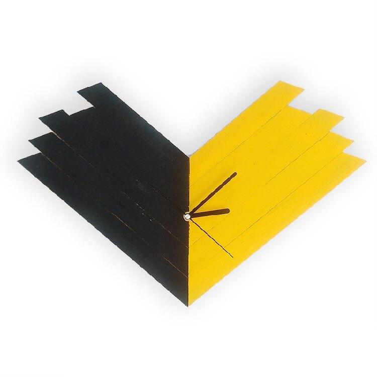Mode horloge chambre silencieux Scan décoratif horloges murales bois couture créative mur montres Design moderne