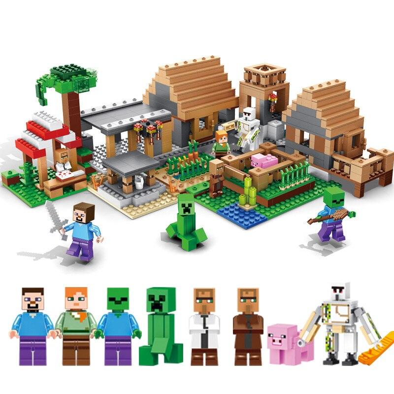 838pcs Children s building blocks toy Compatible city minecrafted Large village DIY figures Bricks best birthday