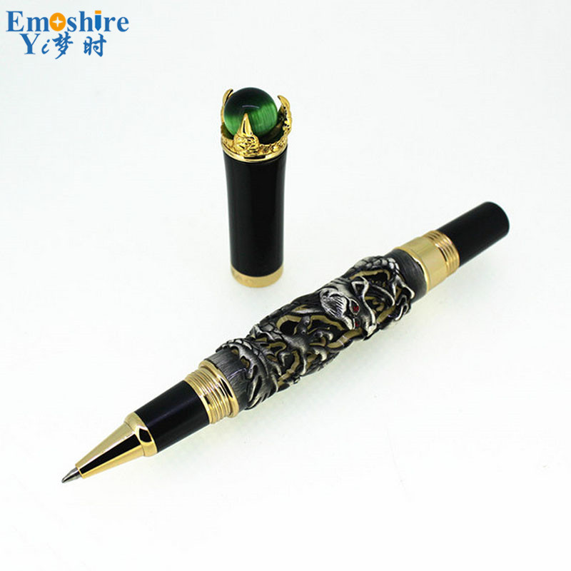 Fashion Modern Ballpoint Pen Classic Design Luxury Roller Ball Pens for Office School Writing Stationery Supplies JH01 jinhao rare golden double dragon pattern roller ball pen luxury stationery school office supplies brand writing gift pens