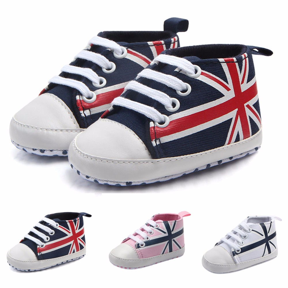 0e38754b8 ARLONEET Fashion babies shoes soft baby shoes girls Boys Baby Union Jack  Flag Print Canvas Anti-slip Soft Shoes Sneaker DE29