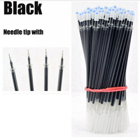 High Quality 100pcs Pack 0 38mm Pen Refills Blue Black Red Ink School Office Home Writing