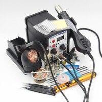 RIESBA 8586 BGA Soldering Station LED Digital Solder Iron Desoldering Station Hot Air Gun Solder Iron