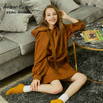 Vero Moda 2019 new kangaroo pocket hooded pure sweater dress homewear | 318460504 - DISCOUNT ITEM  54% OFF All Category