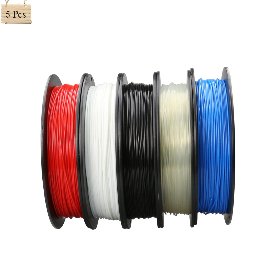 Multi Color 5 Rolls Optional 3D Printer Filament 1.75 MM 0.5kg Plastic PLA/ABS For Reprap Prusa i3 DIY 3D Printing купить антиварусную обувь интернет магазин