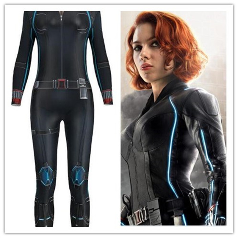 Avengers Infinity War Black Widow Catsuit <font><b>Cosplay</b></font> Costumes 3D Printing Adult Girls <font><b>Sexy</b></font> <font><b>Halloween</b></font> Bodysuit Jumpsuit Masquerade image