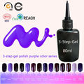 Purple Color Gel Nail Polish Blinkingel Nail Lacquers 80ml/bottle for of Nail Gel Romantic Esmalte Gel Mirror Polish