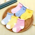 6 новорожденных носки полосой любовь детские нескользящей носки детские носки новорожденного мальчика носки