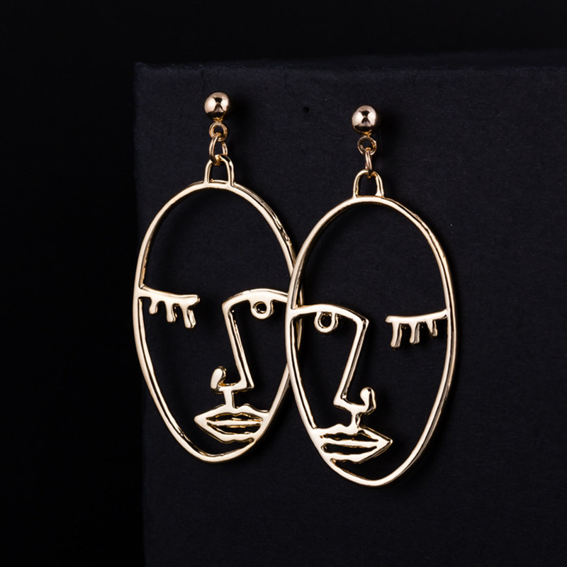 412e9c2cc3f7c US $0.37 20% OFF Simple Abstract Earrings for Women Gold Silver Exaggerated  Face Palm Dangle Drop Earings Fashion Jewelry Korean Brincos Bijoux-in ...