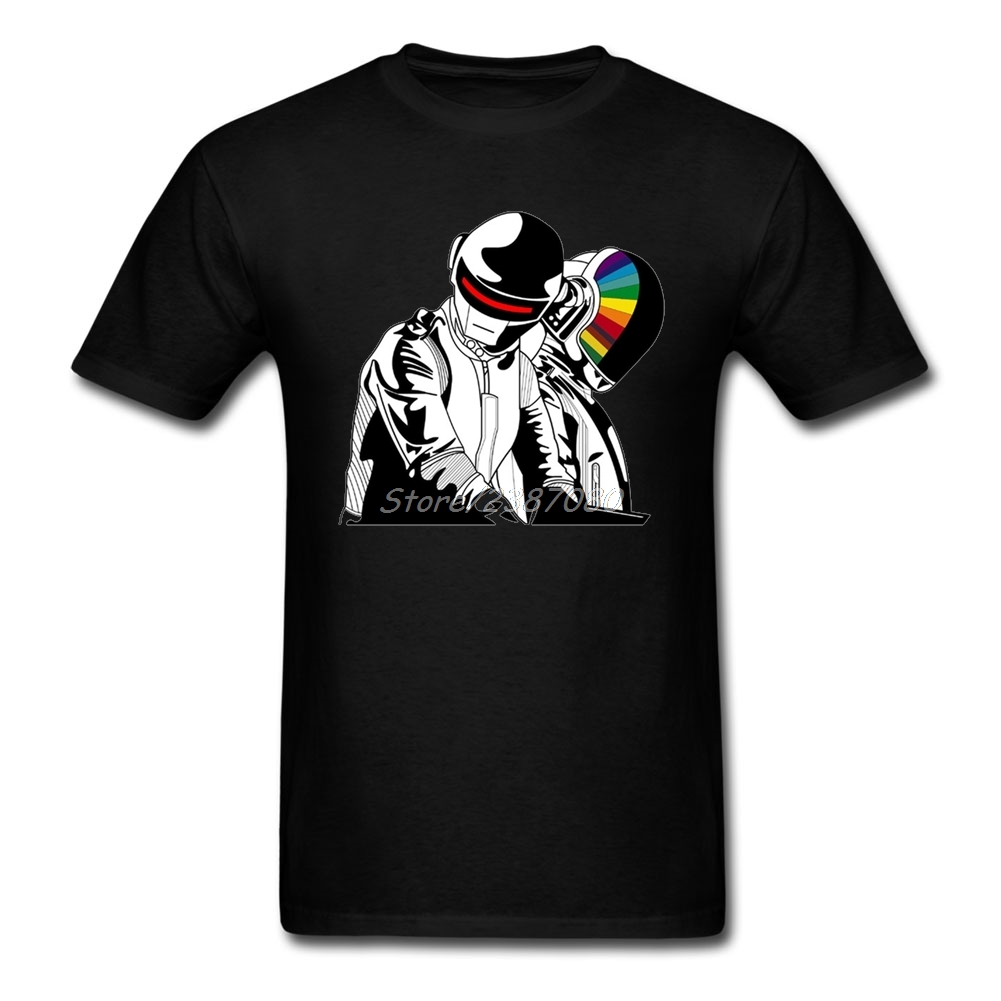 Daft Punk Music T Shirt XXXL Custom Short Sleeve Brand Clothing Hip Hop 3d Printer Cotton T Shirts Fitness Men