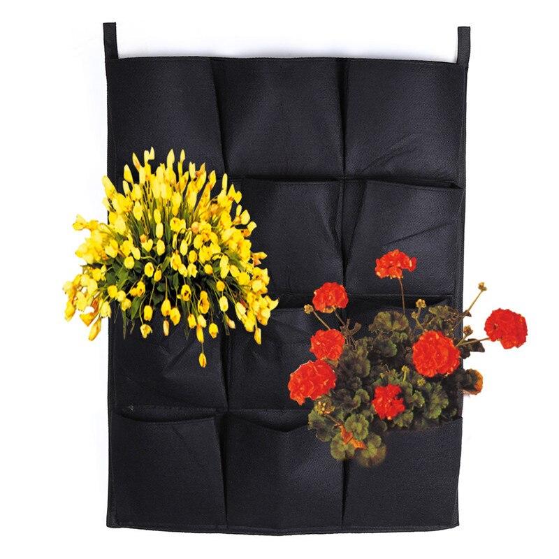 7 12 16 Pockets Garden Plastic Pocket Flower Pots Vase Square