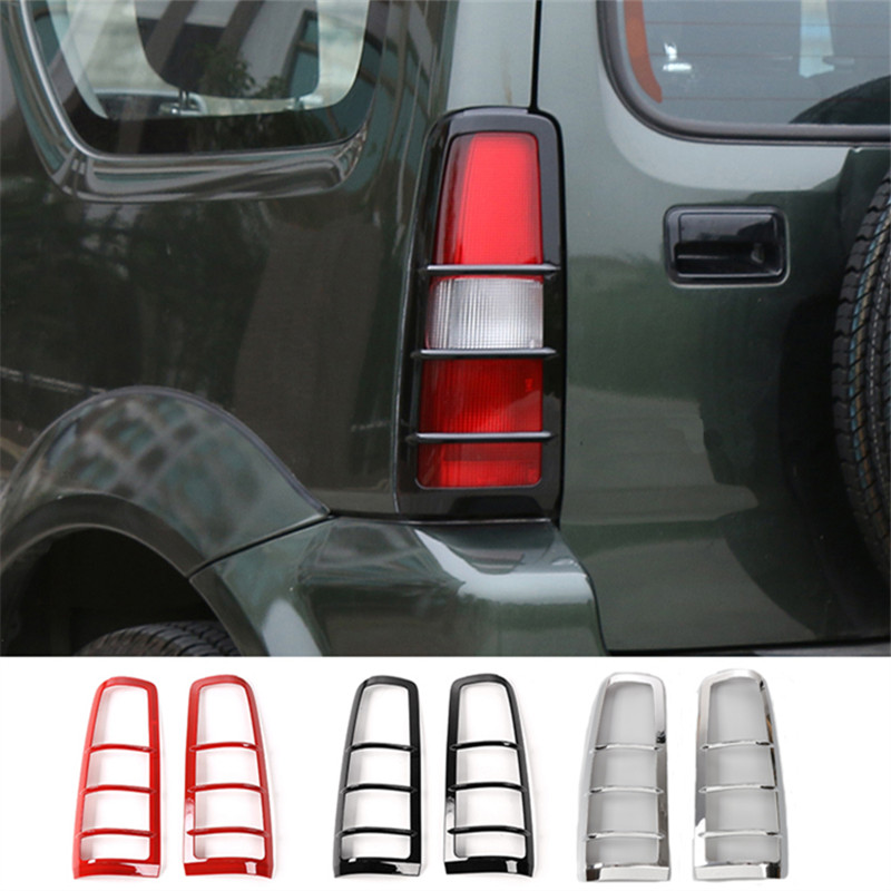 BBQ FUKA ABS Car Exterior Tail Light Lamp Guards Decoration Cover Stickers For Suzuki Jimny 2007