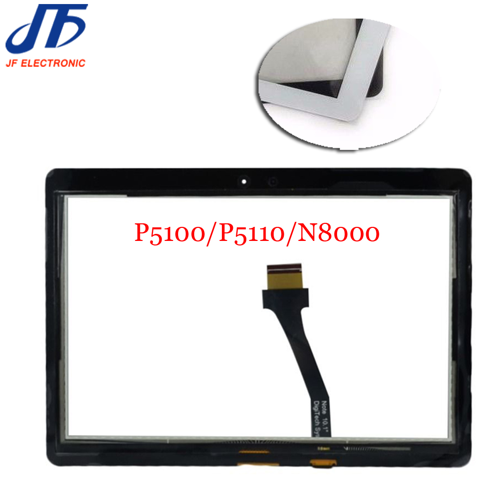 New P5100 Touch Panel For Samsung Galaxy Tab 2 P5100 P5110 N8000 N8010 Touch Screen Digitizer Repair Panel 10pcs/lot