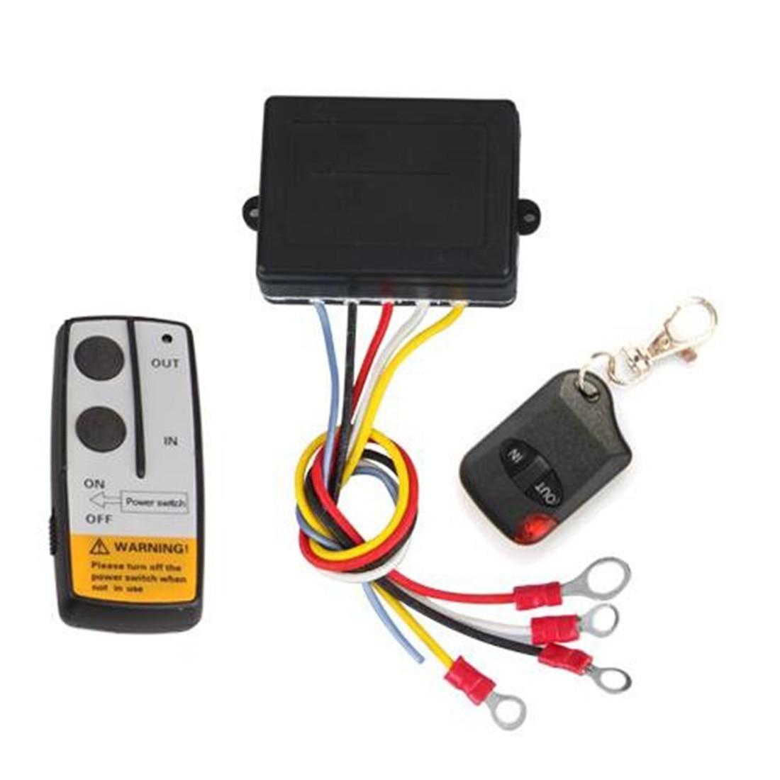 Marsnaska 2017 hot sale 12V 50ft Winch Wireless Remote Control Set Kit For Truck Jeep ATV Warn Ramsey