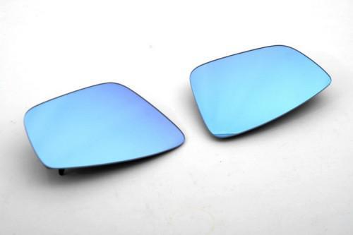 Verre de miroir latéral teinté bleu de voiture automatique avec Support thermique pour vw Polo 6R