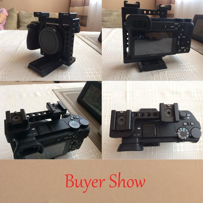 CAMVATE kaitsev videokaamera puur A6500 NEX7 DSLR stabilisaatori - Kaamera ja foto - Foto 5