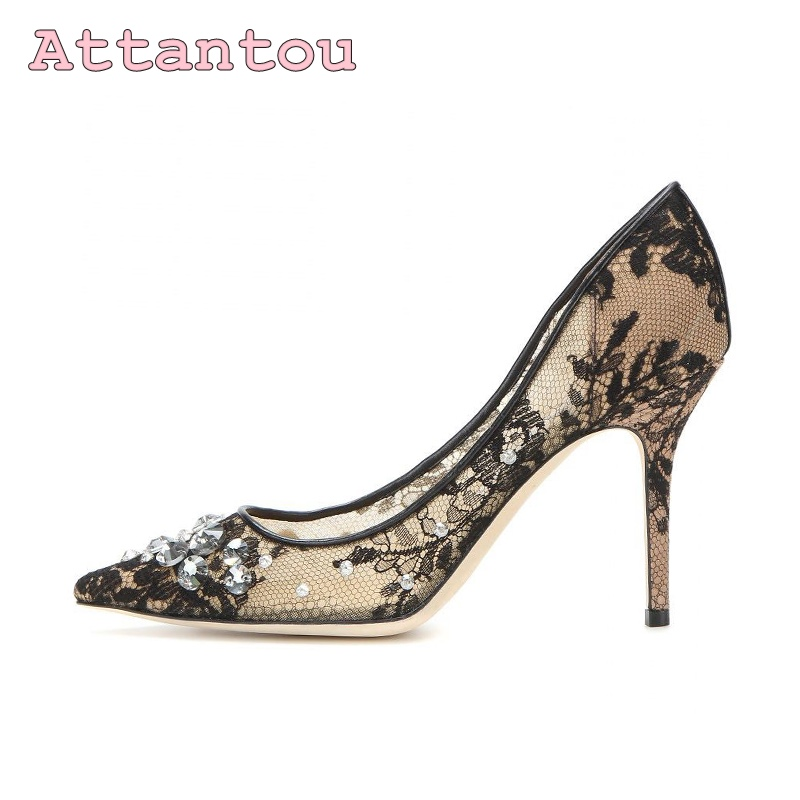 2017 summer beaded flowers sexy high heels shallow peep toe lace ladies sandals net cloth elegant  women's pumps wedding shoes cdts 35 45 46 summer zapatos mujer peep toe sandals 15cm thin high heels flowers crystal platform sexy woman shoes wedding pumps