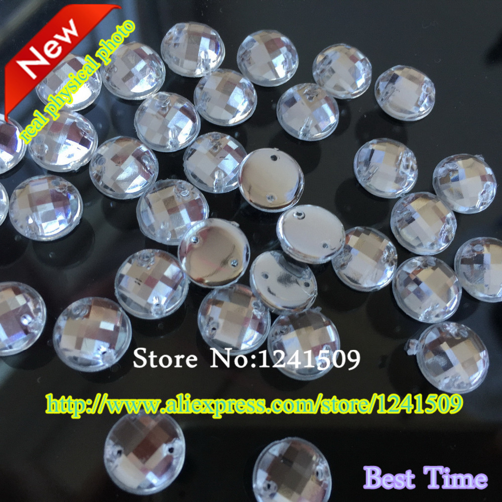 Free Shipping 14mm 100pcs White Color Round Acrylic Rhinestones Sewing  Dress Bags Shirt Hat Strass Clothes Shoes DIY Accessory-in Rhinestones from  Home ... 3f2b43e5420f
