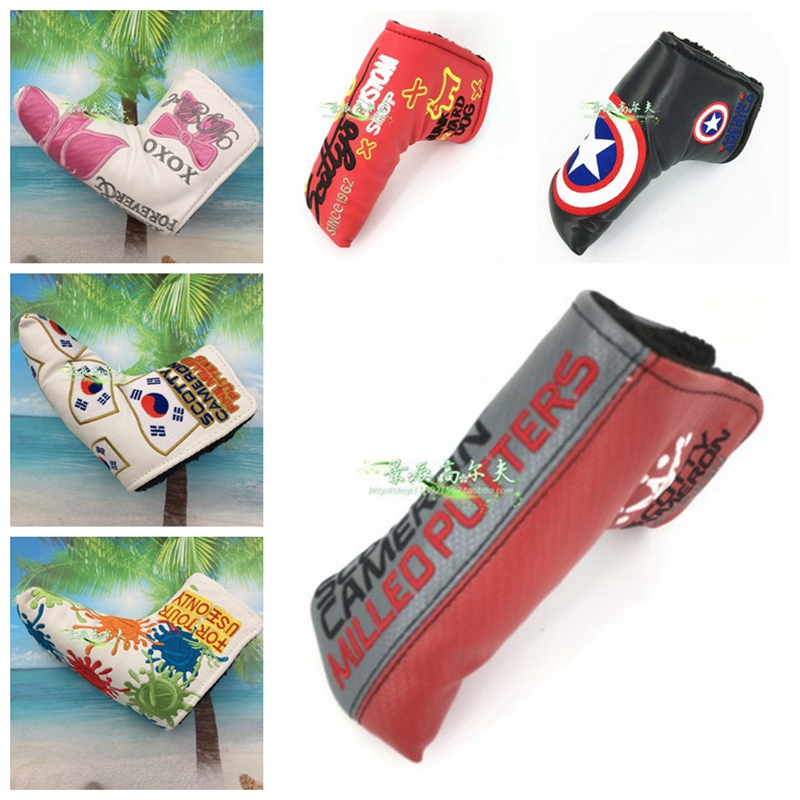 TlTLElST Golf Milled Putter Master Cover PUTTER HEADCOVER Fits Tour Cameron Junk Yard Dog Crown Scotty Clown Cherry Headcovers
