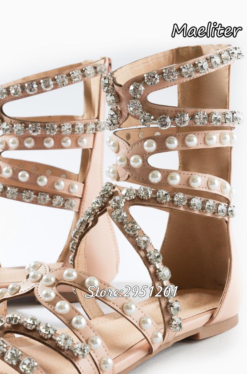 Picture D'été Femmes Picture Strass Perle Gladiateur as Sandales Blanc Parti Mariage The Chaussures Glitter De As 2019 Diamant Talons Haute pqSTOO