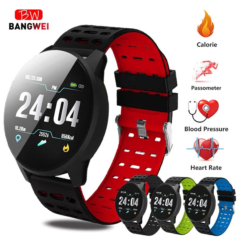 2019 BANGWEI Новый смарт часы приборы для измерения артериального давления сердечного ритма Спорт режим смарт часы для мужчин для женщин фитнес..