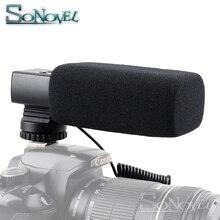מקצועי DSLR מצלמה סטריאו מיקרופון עבור Canon EOS R M2 M3 M5 M6 M50 800D 760D 750D 200D 77D 80D 5Ds R 7D 6D 5D סימן IV
