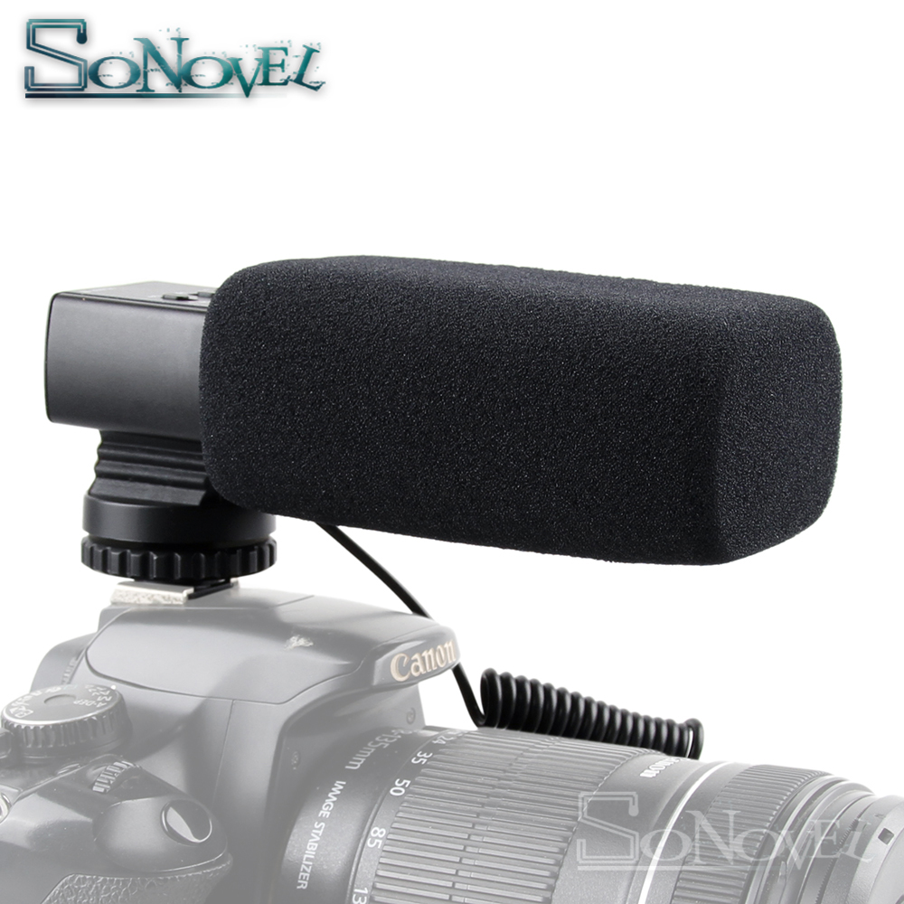 Professional DSLR Camera Stereo Microphone for Canon EOS R M2 M3 M5 M6 M50 800D 760D 750D 200D 77D 80D 5Ds R 7D 6D 5D Mark IV-in Microphones from Consumer Electronics    1