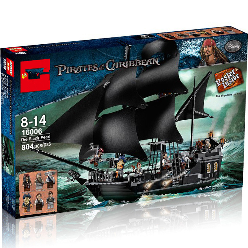 the 16006 the Pirates ship of the Caribbean The Black Pearl Building Blocks Set 4184 DIY