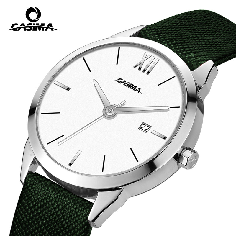 CASIMA Luxury Brand Watches Women Fashion Beauty Table Casual Female Quartz Wrist Watch Leather Band Calendar Waterproof #2625