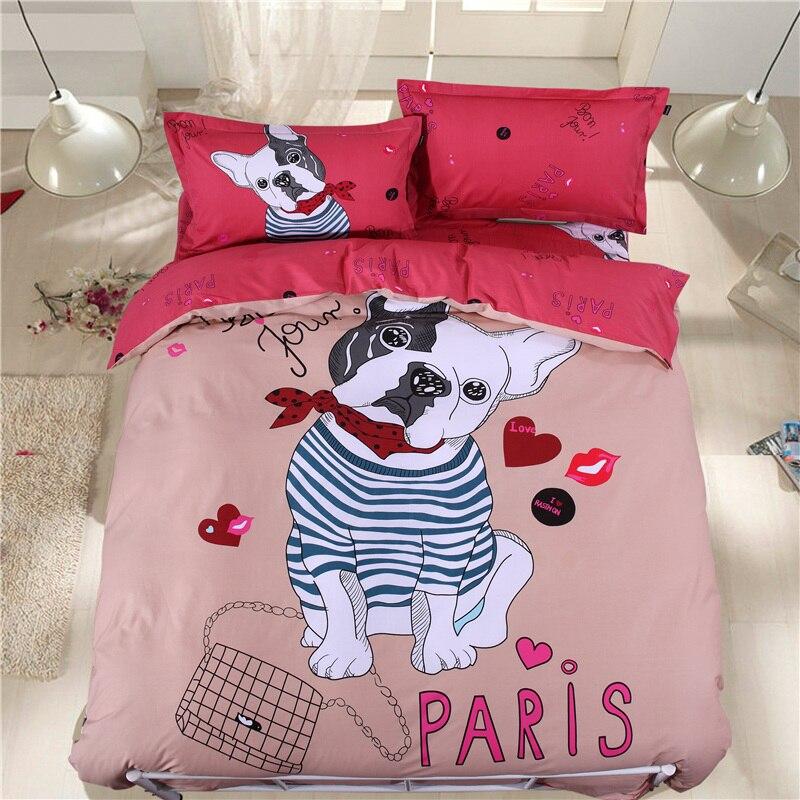 Textil Para El hogar ropa Vestido Rojo ropa de Cama Juego de Cama de Algodón de