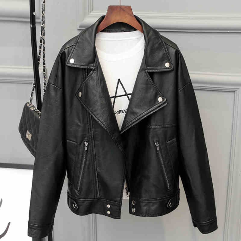 Simple Fashion Womens Motorcycle Leather Jackets and Coats Brand Designer Spring Women Female Shorts Leather Jackets 2017 C387