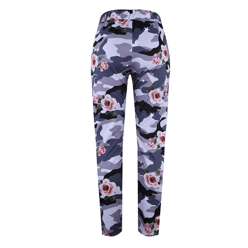 Fashion Womens Pants 2018 New Arrival Comfortable Sequins Camouflage Print Bandage Patchwork Mid Waist Long Pants Trousers F#J12 (18)