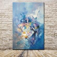 Mintura Картины Ручная роспись Абстрактная живопись маслом на холсте Современная Настенная художественная картина для гостиной украшение дома без рамки