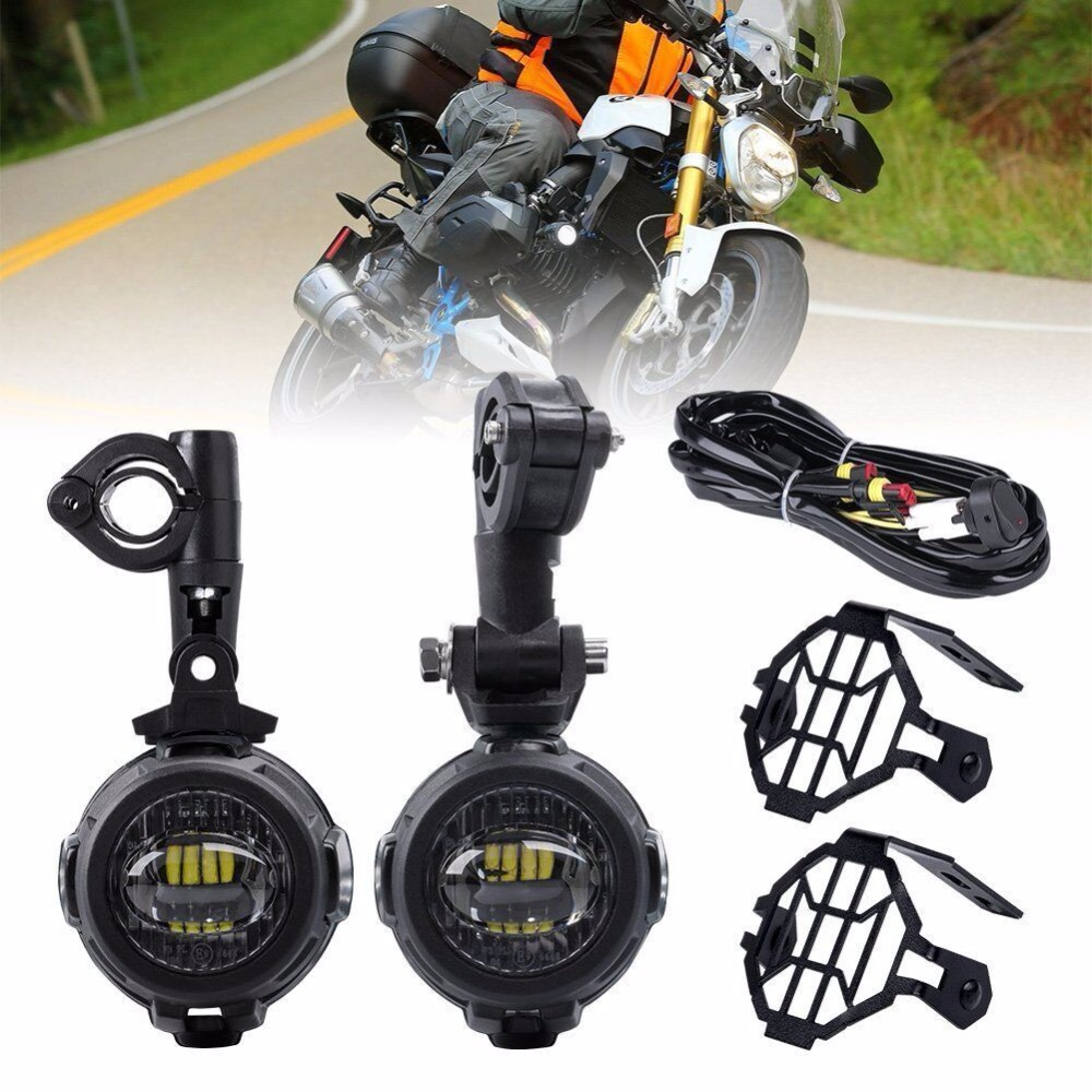 Motocycle Fog Lights For BMW LED Auxiliary Fog Light Driving Lamp For BMW R1200GS/ADV K1600 R1200GS R1100GS F800GS цена