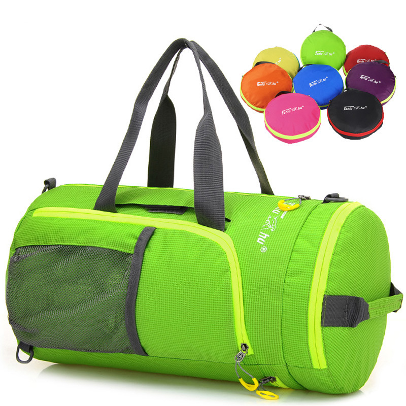 Outdoor Multifunction Waterproof Nylon Unisex Camping Sports Bags Folding Knapsack Packsack Shoulder Bags Travel Hiking Bags