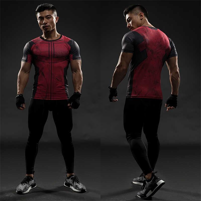 TUNSECHY Человек-паук 3D Футболка с принтом Капитан Америка для мужчин Мстители короткий рукав футболки фитнес Косплей Slim Fit топы Мужские